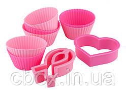 """Набір форм для випічки """"Рожева стрічка"""" 8 шт, Ейвон, Avon, 37794"""