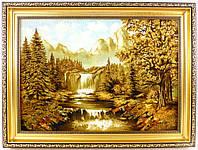 Картина янтарная среднего размера