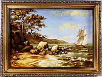 Картина из янтаря с паруником