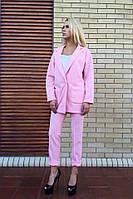 Женский красивый костюм-двойка:кардиган и брюки (2 цвета)+( Большие размеры) розовый, ХС