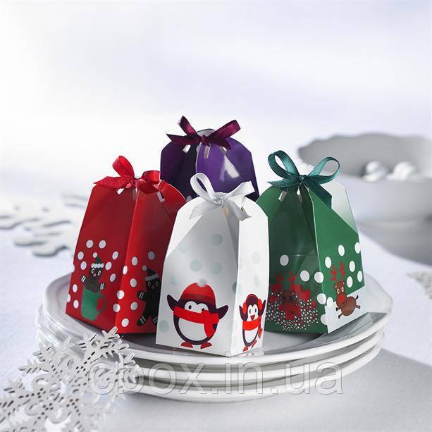 """Набор подарочных коробочек """"Новогодний сюрприз"""" 4 шт, Эйвон, Avon, 90750"""