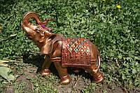 Слон Индийский с камнями 28 см. (бронза)
