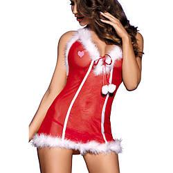 Секси-костюм снегурочки O/S, красный