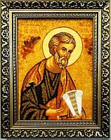 Икона Петр из янтаря