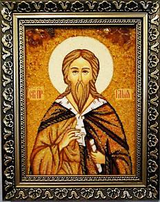 Икона Илья из янтаря