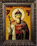 Икона Владимир из янтаря