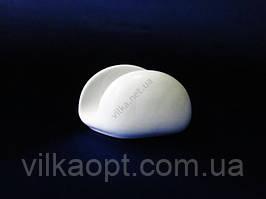 Салфетница керамическая белая  Надежда 11,5 х 7 см.