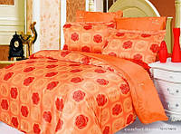Постельное белье атлас Le Vele арт LV-Roxy orange