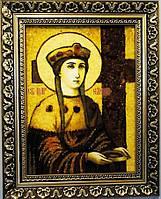 Икона Елена из янтаря