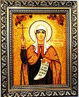 Икона Светлана из янтаря