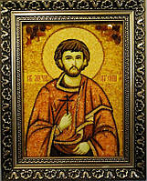 Икона Евгений из янтаря