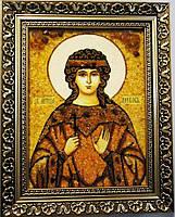 Икона Любовь из янтаря