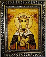 Икона Людмила из янтаря