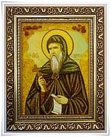 Икона Анатолий из янтаря