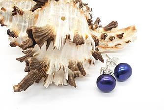 Серьги гвоздики, Жемчуг с фиолетовым отливом, гвоздики
