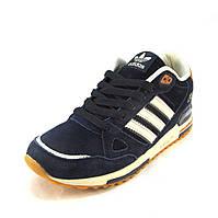 Кроссовки мужские  Adidas ZX 750 замшевые синие (р.41,43,45)