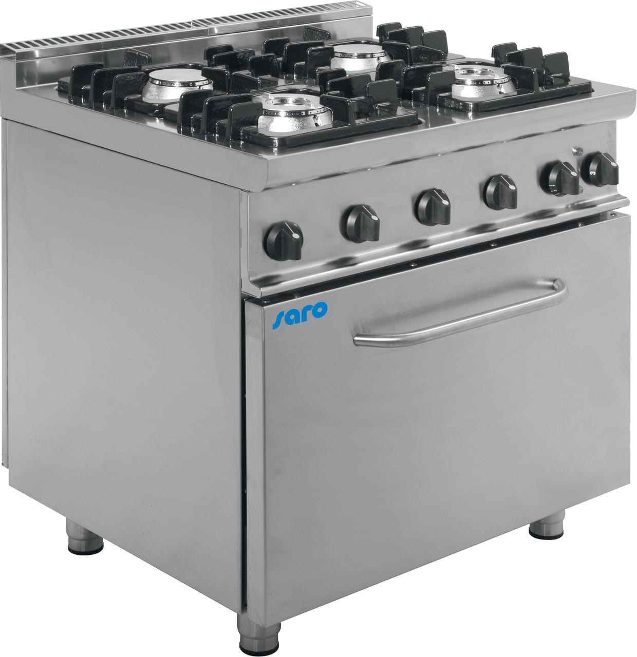 Газовая плита с электрической духовкой E7 / KUPG4LE Saro