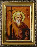Икона Андрей из янтаря