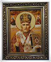 Икона Святой Николай из янтаря