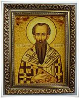 Икона Василий из янтаря средняя