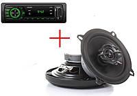 Автомагнитола Fantom FP-350 Black/Green + автоакустика Sigma AS-C502
