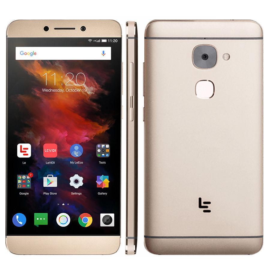 "Смартфон LeEco Le S3 X626 4/64Gb Gold, 21/8Мп, 10 ядер, 2sim, экран 5.5"" IPS, 3000mAh, GPS, 4G, Helio X20"