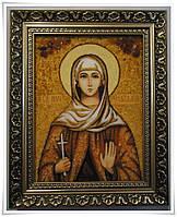 Икона Наталия  из янтаря