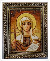 Икона Татьяна из янтаря