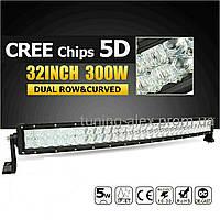 LED Прожектор 5D Combo LUX изогнутая  300W/ 60led/ 810мм