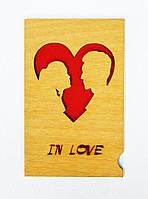 Деревянная открытка In Love 201117-500