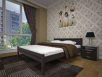 Кровать Классика  деревянная односпальная 90 (Тис)