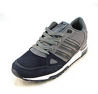 Кроссовки мужские  Adidas ZX 750 замшевые сине-серые (р.41,42,43,44,45,46)