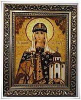 Икона Ольга из янтаря