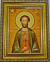 Икона Виктор из янтаря