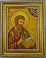 Икона Матвей из янтаря