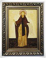 Ікона Сергій Чудотворець з бурштину