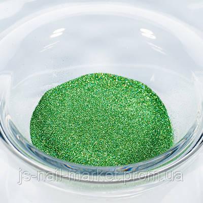 Гліттер (пісок) для манікюру №14 Зелений малахіт, розмір-01