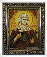 Икона Валентина  из янтаря