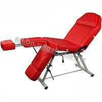 Педикюрно-косметологическая кресло-кушетка ZD-813A, цвет красный