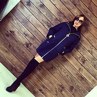"""Женское модное пальто свободного кроя с воротником -стойкой """"Реглан"""" в расцветках (размеры 42-48)"""