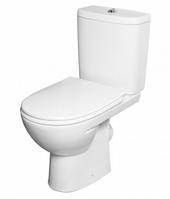FREJA Premium унитаз, косой выпуск, сливной бачок 3/6 л, нижний подвод, сиденье с крышкой Duroplast Soft-close