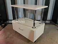 Тележка педикюрная, столик для педикюра с ящиком. Модель  А92 крем