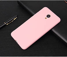 Чехол Meizu M5C / Meilan A5 5.0'' силикон soft touch бампер светло-розовый