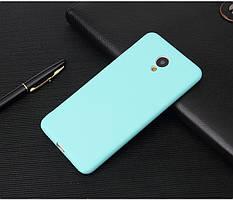 Чехол Meizu M5C / Meilan A5 5.0'' силикон soft touch бампер голубой