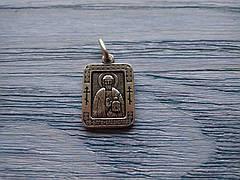 Владислав Икона Нательная Именная Посеребренная Мужская Православная размер 20*16 мм