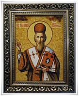 Икона Тарас из янтаря