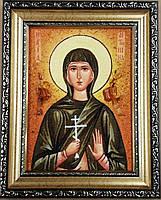 Икона Антонина из янтаря