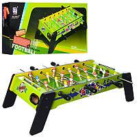 Футбол на штангах деревяний, на ніжках, гра дитяча , розміри 61-32-18,5 см. 1063+1