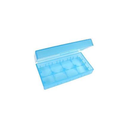 Пластиковый кейс для 2 аккумуляторов 18650, фото 2