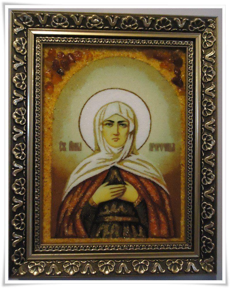 Икона Анны из янтаря